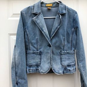 Jackets & Blazers - Jeans/Denim one button stretchy jacket